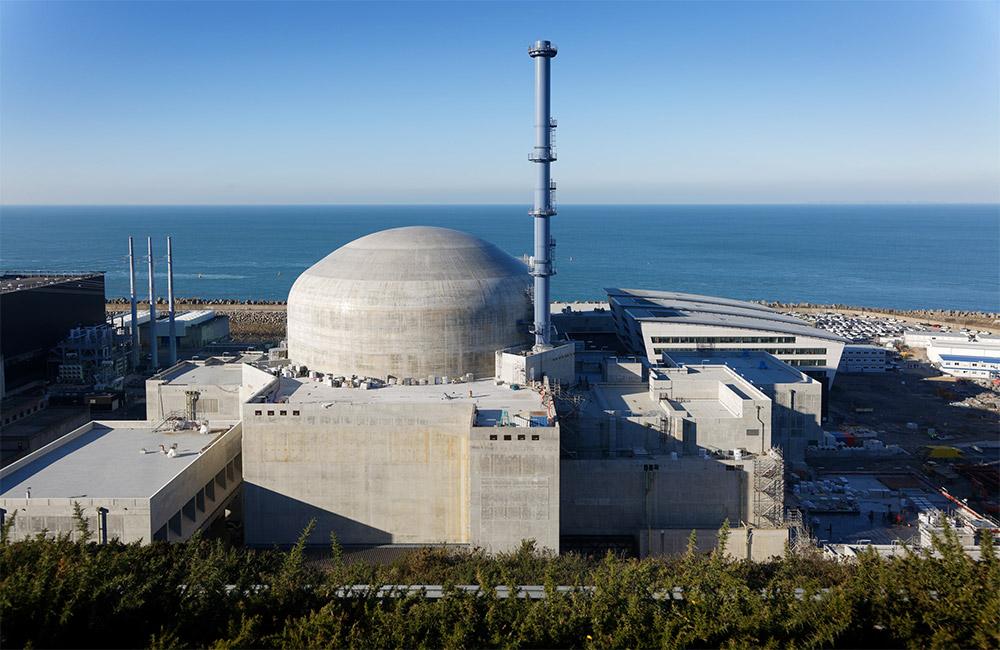 Foto: La central nuclear de Flamanville (Francia) de EDF. Fuente: EDF