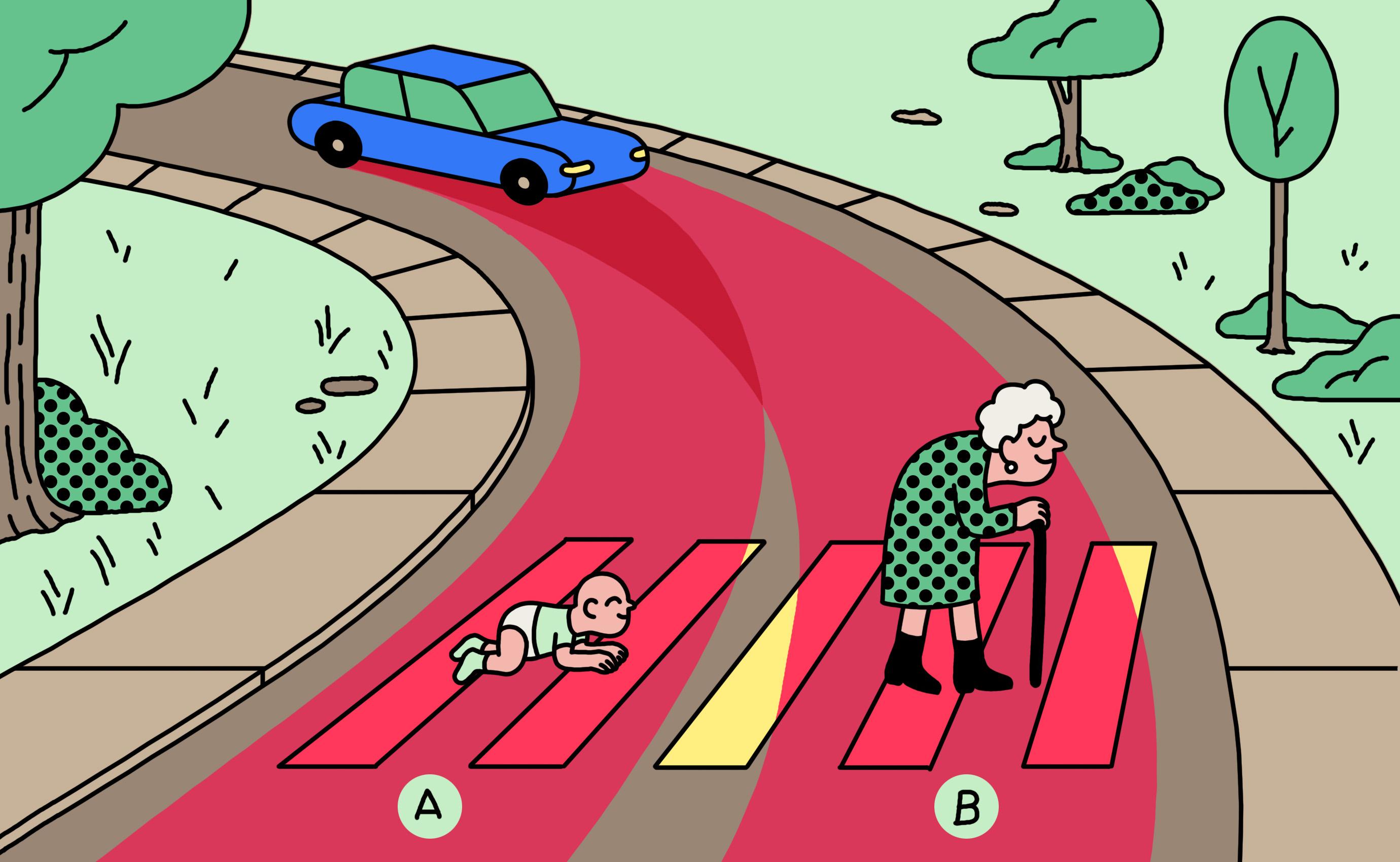 ¿Matar a un anciano o a un bebé? La ética del coche autónomo depende del país