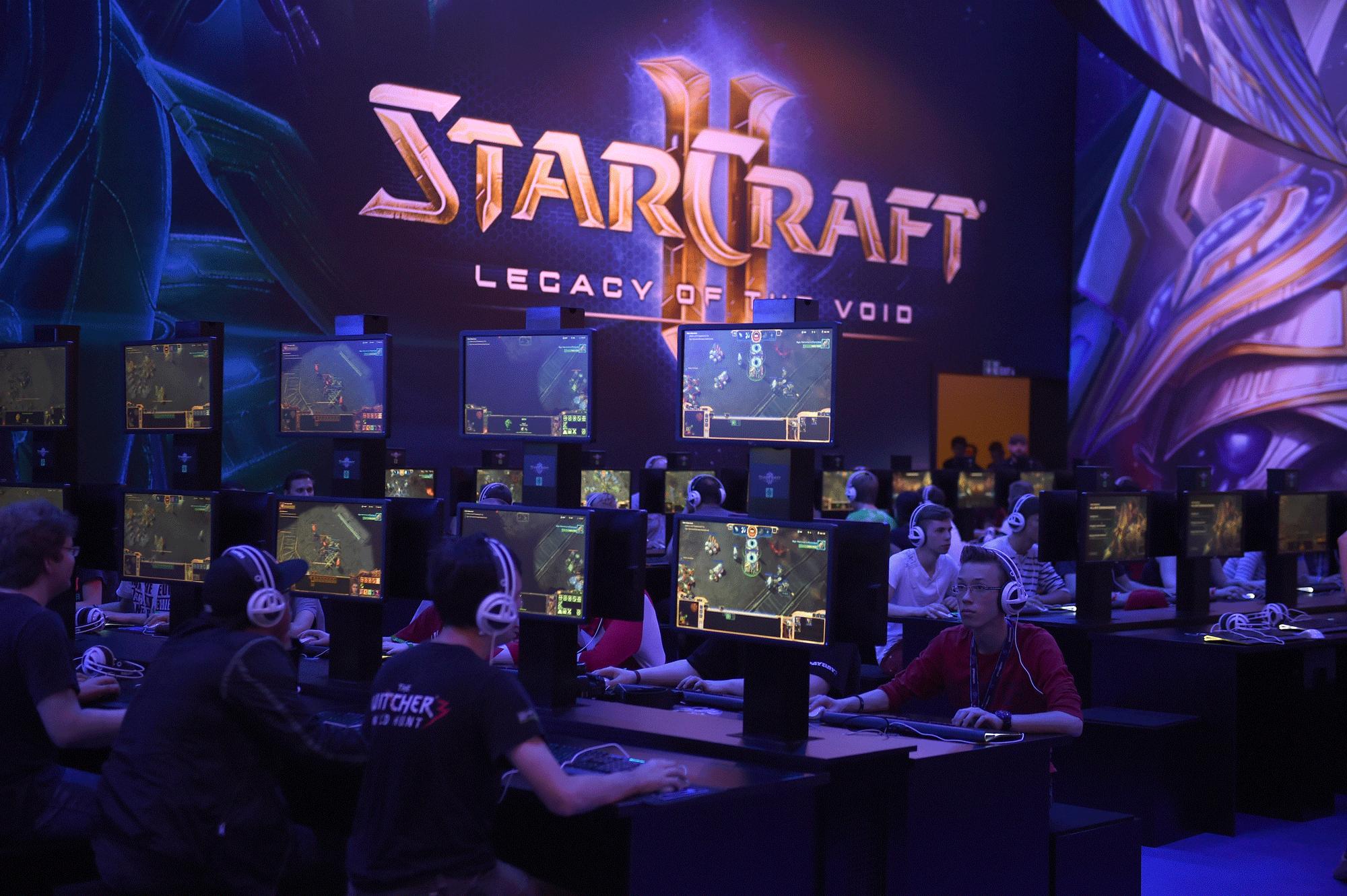 Competición de StarCraft durante la Gamescon de Colonia, Alemania, en 2015