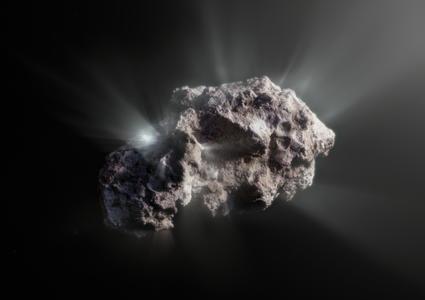 Ilustración artística de la superficie del cometa 2I/Borisov